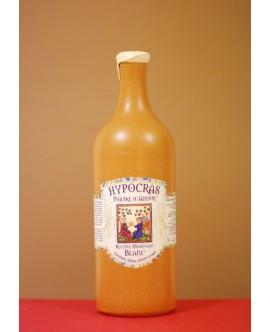 Hypocras Médiéval Blanc bouteille en grès